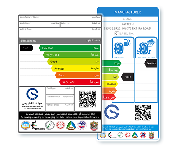 GSO Fuel Economy Labels for Motor Vehicles and Tyres
