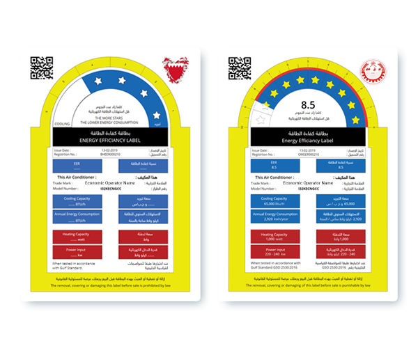 Energy Efficiency Rating Labels for Gulf